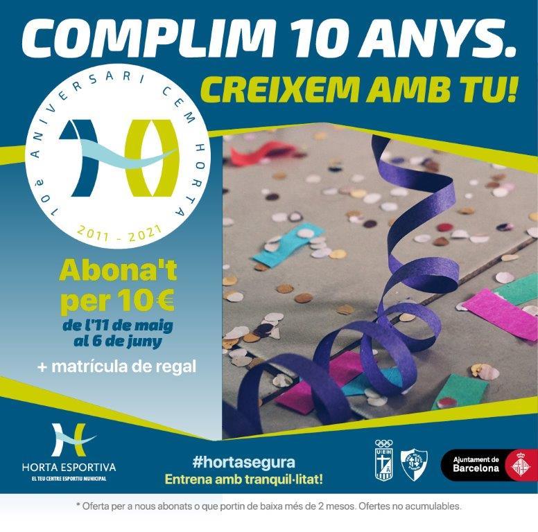 Promo 10 aniversario - Horta Esportiva