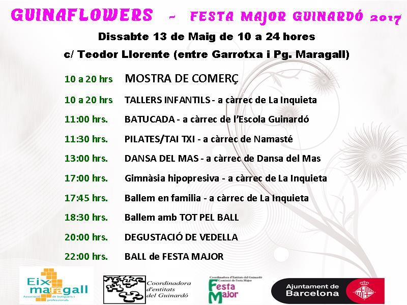 Guinaflowers, Festa Major del Guinardó 2017