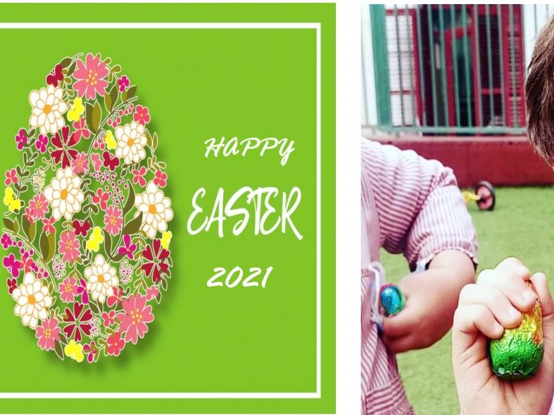 Fiesta en la escuela, Semana Santa - Monas de Pascua