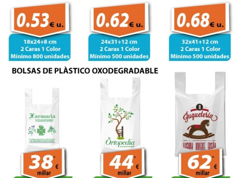 Bosses de paper i bosses de plàstic oxodegradable